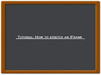 Resizing an IFrame to fill in 100% height